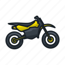 motor, motorcross, motorcycle, ride, rider, track, trail icon