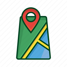 earth, hint, location, map, position, street, travel icon