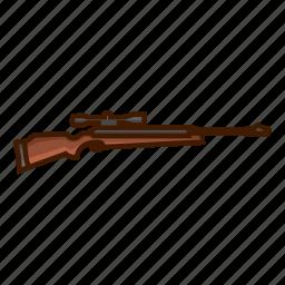 air rifle, firer, gun, rifle, rifle shot, shoot, sniper icon