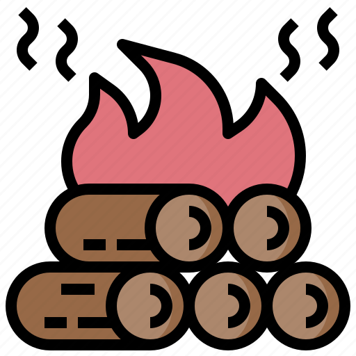 Bonfire, camp, camping, fire, nature, survival icon - Download on Iconfinder