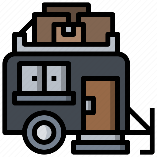 Camping, car, caravan, trailer, transportation, travel, vehicle icon - Download on Iconfinder