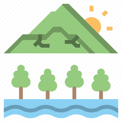 Altitude, forest, landscape, mountain, mountains, nature, scenery icon - Download on Iconfinder