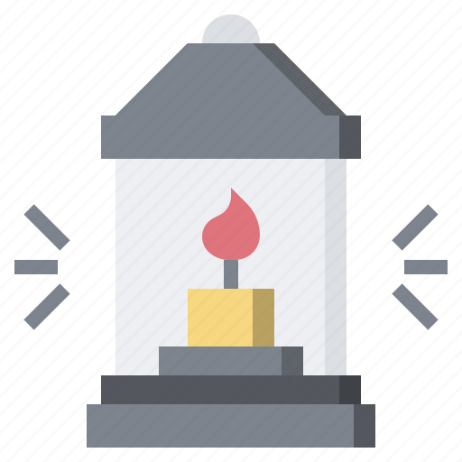 camping, candle, fire, flame, lamp, lantern, oil icon