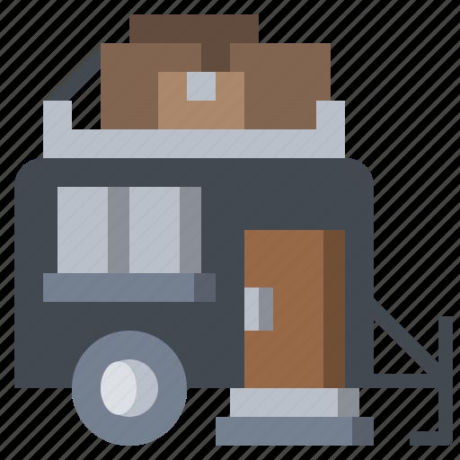Camping, car, caravan, trailer, transportation, travel, vehicle icon - Download on Iconfinder
