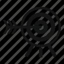 accuracy, concept, darts, game, illustration, sport, success icon