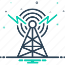 antenna, broadcast, communication, internet, radar, transmitter, wireless icon