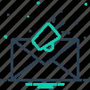 megaphone, communication, newsletter, publicity, promotion, email marketing, envelope icon