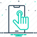 choose, cursor, finger, screen, target, technology, user interface icon