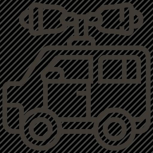 Advertising, communication, megaphone, vehicle icon