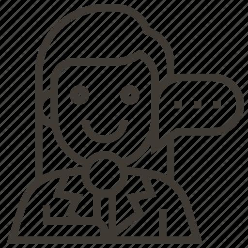avatar, communication, girl, woman icon
