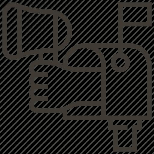 Bullhorn, hand, mail, megaphone, message icon - Download on Iconfinder