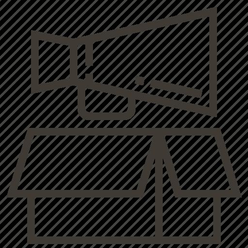 box, bullhorn, megaphone, sound icon
