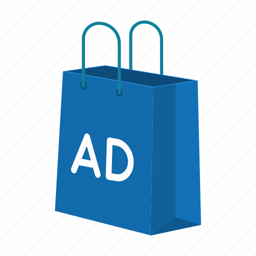 advertisement, bag, brand, business, marketing, package, shopping icon