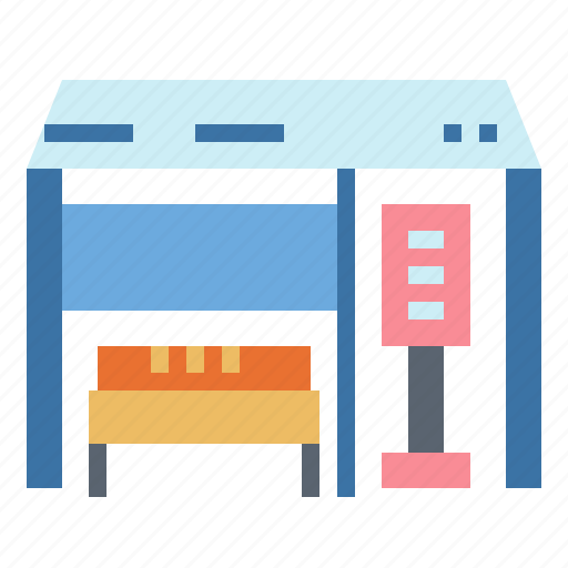 ads, bench, bus, stop, transportation icon