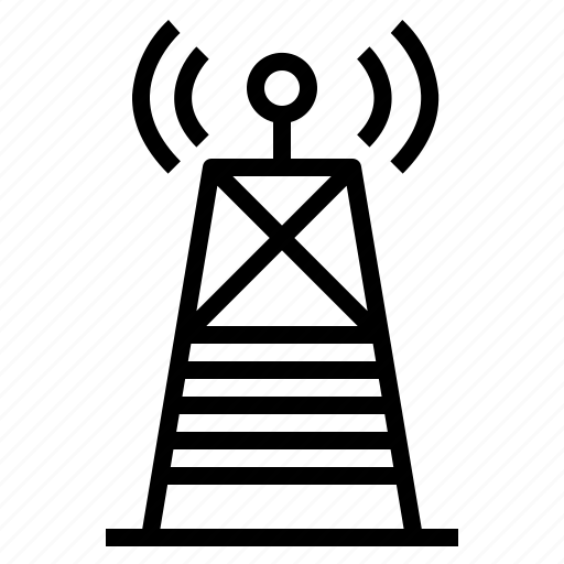 antenna, electrical, signal, technology icon