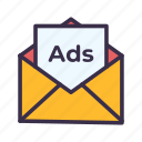 ads, advertisement, advertising, email, letter, marketing