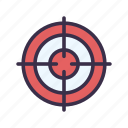 advertisement, advertising, aim, goal, marketing, target icon