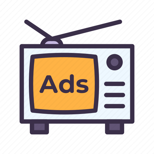 ads, advertisement, advertising, business, marketing, television, tv icon