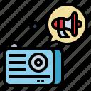 advertising, announcer, marketing, promotion, radio icon