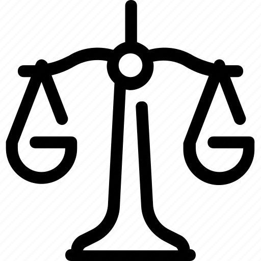 court, decision, justice, scales, weight icon