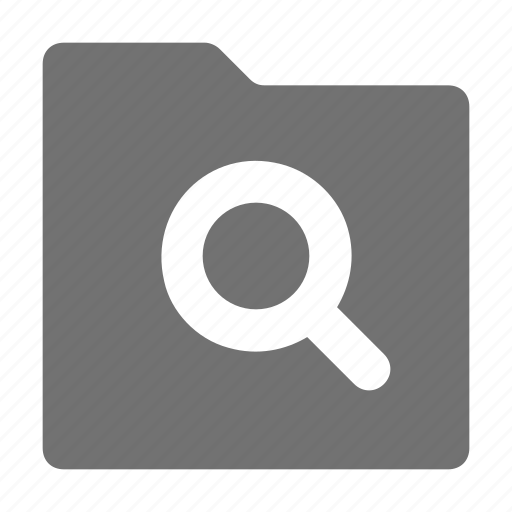find in folder, folder, magnifier, magnifying lens, searching folder icon