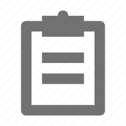 checklist, clipboard, list, memo, shopping list icon
