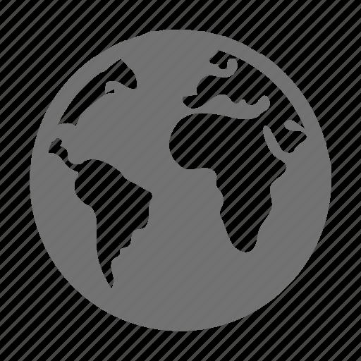 global network, internet, planet, world map, worldwide icon