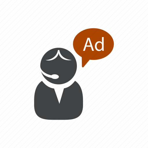 ad, advertisement, advertising, agent, commercial, person, promotion icon