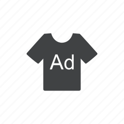 ad, advertisement, advertising, clothes, commercial, promotion, t-shirt icon