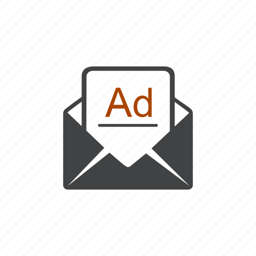 ad, advertisement, advertising, mail, post, promo, promotion icon