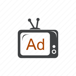 ad, advertisement, advertising, commercial, promotion, tele, tv icon