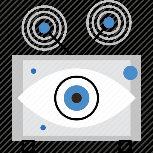 ads, broadcast, media, propaganda, surveillance, television, tv icon