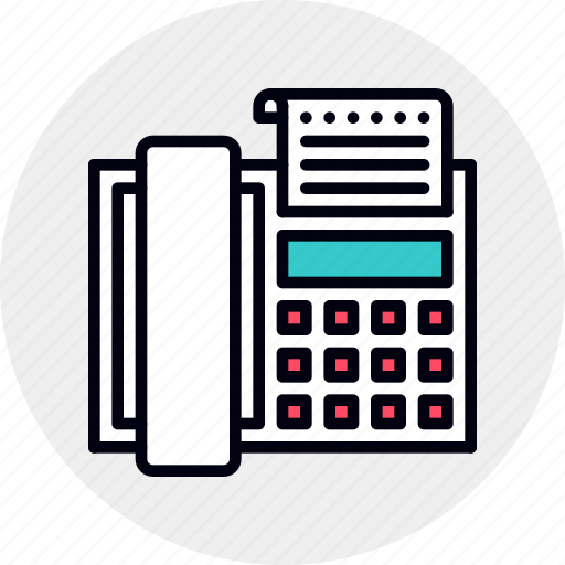 Fax, faxing, machine, message icon - Download on Iconfinder