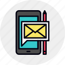 letter, marketing, message, mobile, phone, smartphone, sms icon