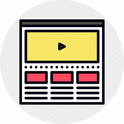 marketing, page, video, viral, web, website icon