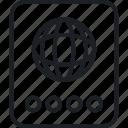 advise, analysis, passport, target icon