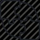 advise, analysis, route, target icon