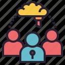 community, private, mastermind, teamwork, mentor icon