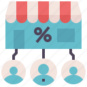 affiliate, marketing, franchise, commission, broker icon