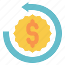 money, back, guarantee, return, offer, warranty icon