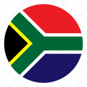 africa, country, flag, nation, round, south icon