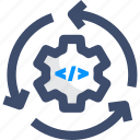 data management, data integration, continuous integration, release, integration icon