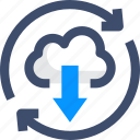 agile, cloud computing, continuous deployment, hosting server, saas icon