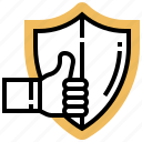 assurance, guarantee, protection, quality, warranty icon