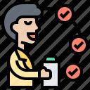 agile, organization, management, planning, task icon