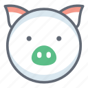 animal, creature, pig, pig face, pork, specie icon