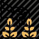 crops, garden, growing, plant, watering icon