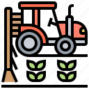 agrarian, countryside, cultivation, farming, tractor icon