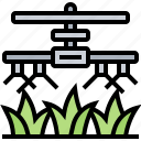agriculture, crops, system, watering, wheat icon