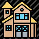 barn, building, countryside, farmhouse, storage icon